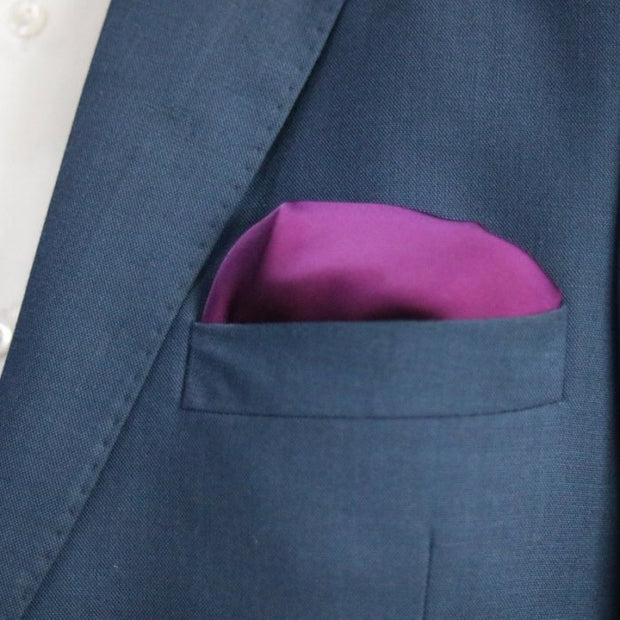 The Solid Mulberry Pocket Square
