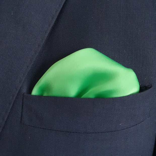 The Solid Parakeet Pocket Square