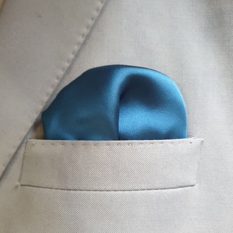 The Solid Prussian Pocket Square