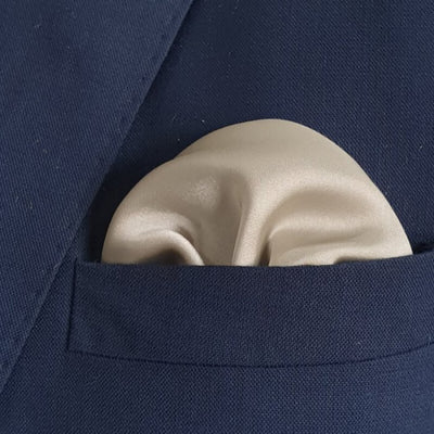 The Solid Reflection Pocket Square