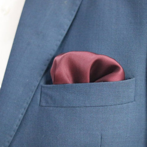 The Solid Sangria Pocket Square