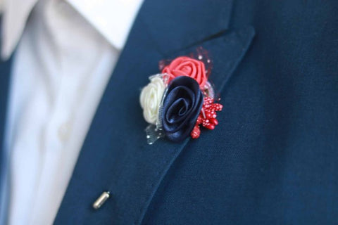 Triple Flower Lapel Pin