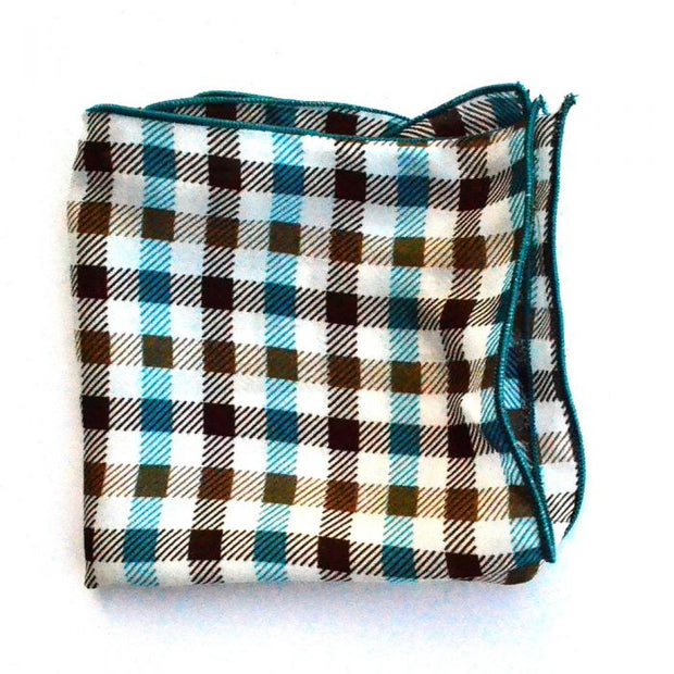 Turquoise Brown Checkered