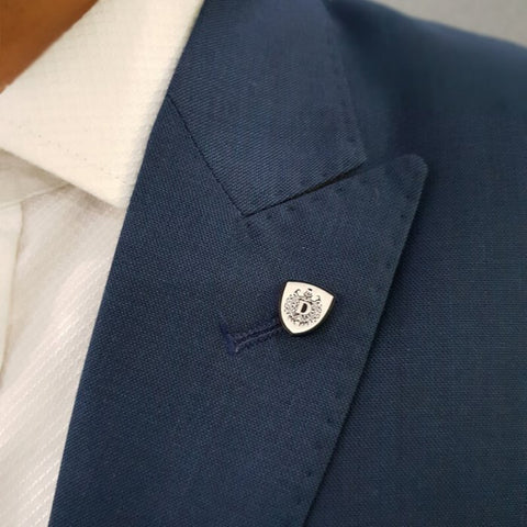 White Delta Lapel Pin