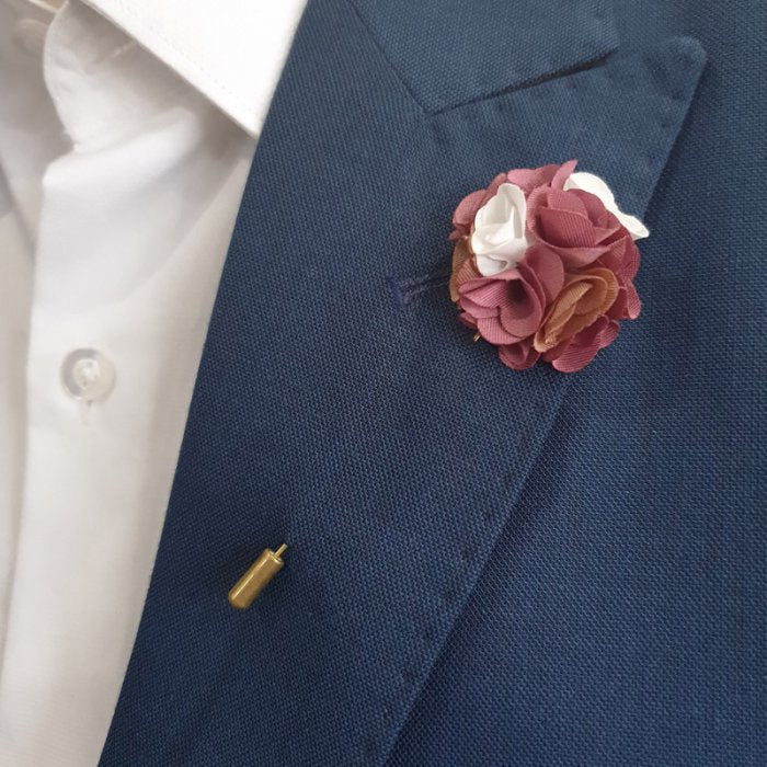 Wine Flower Lapel Pin