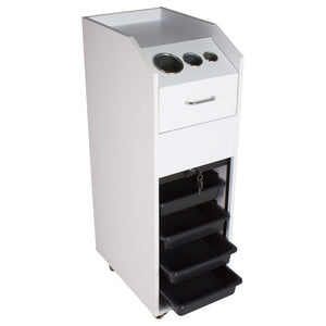Mobile Styling Station, White