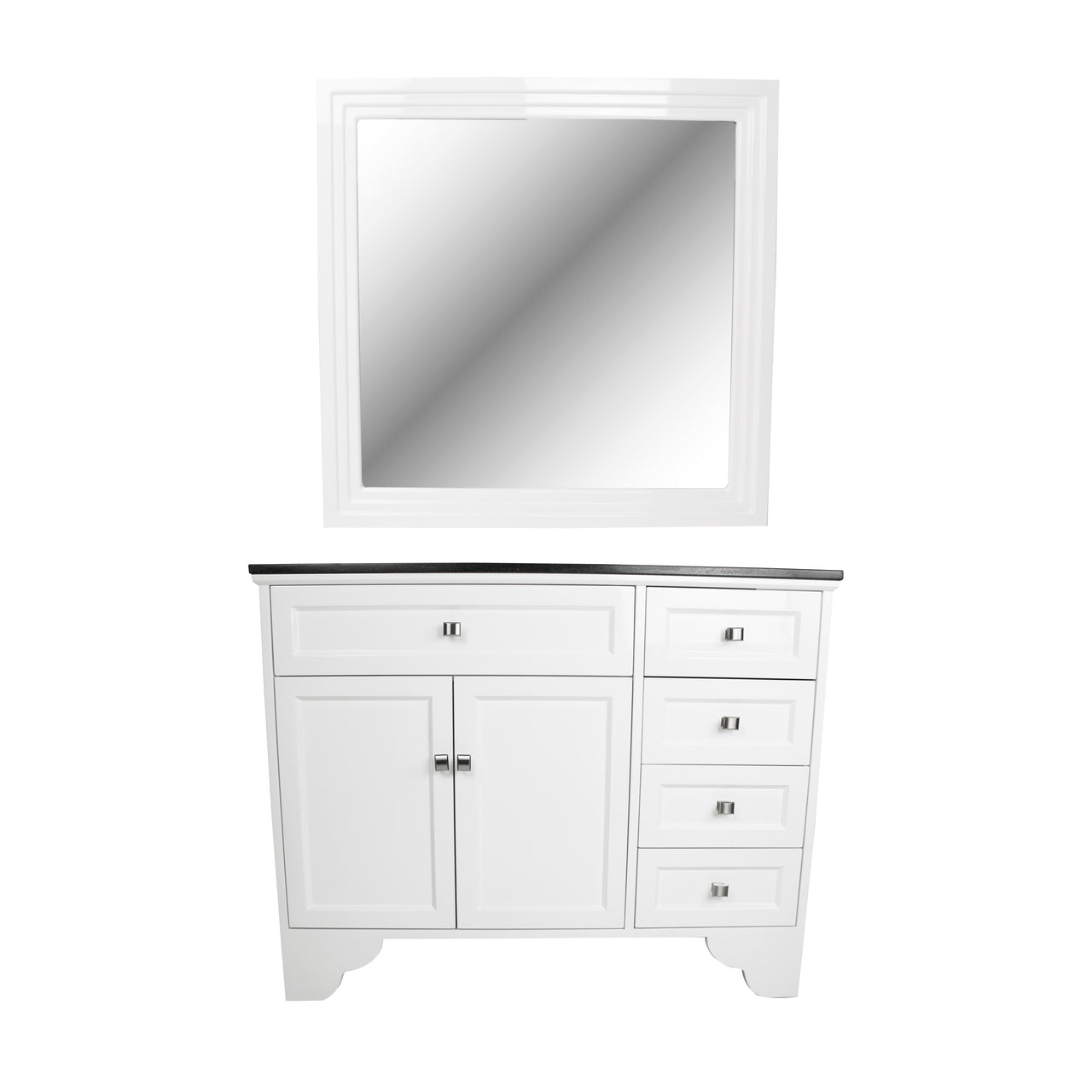 Styling Vanity with Mirror, White