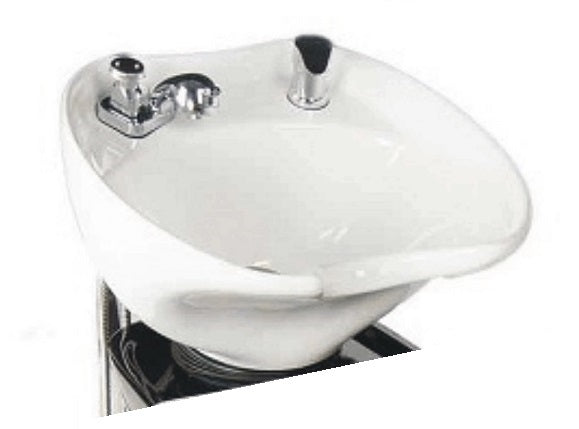 Titling Porcelain Shampoo Bowl, White