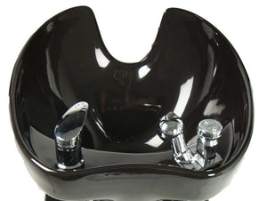 Tilting Porcelain Shampoo Bowl, Black