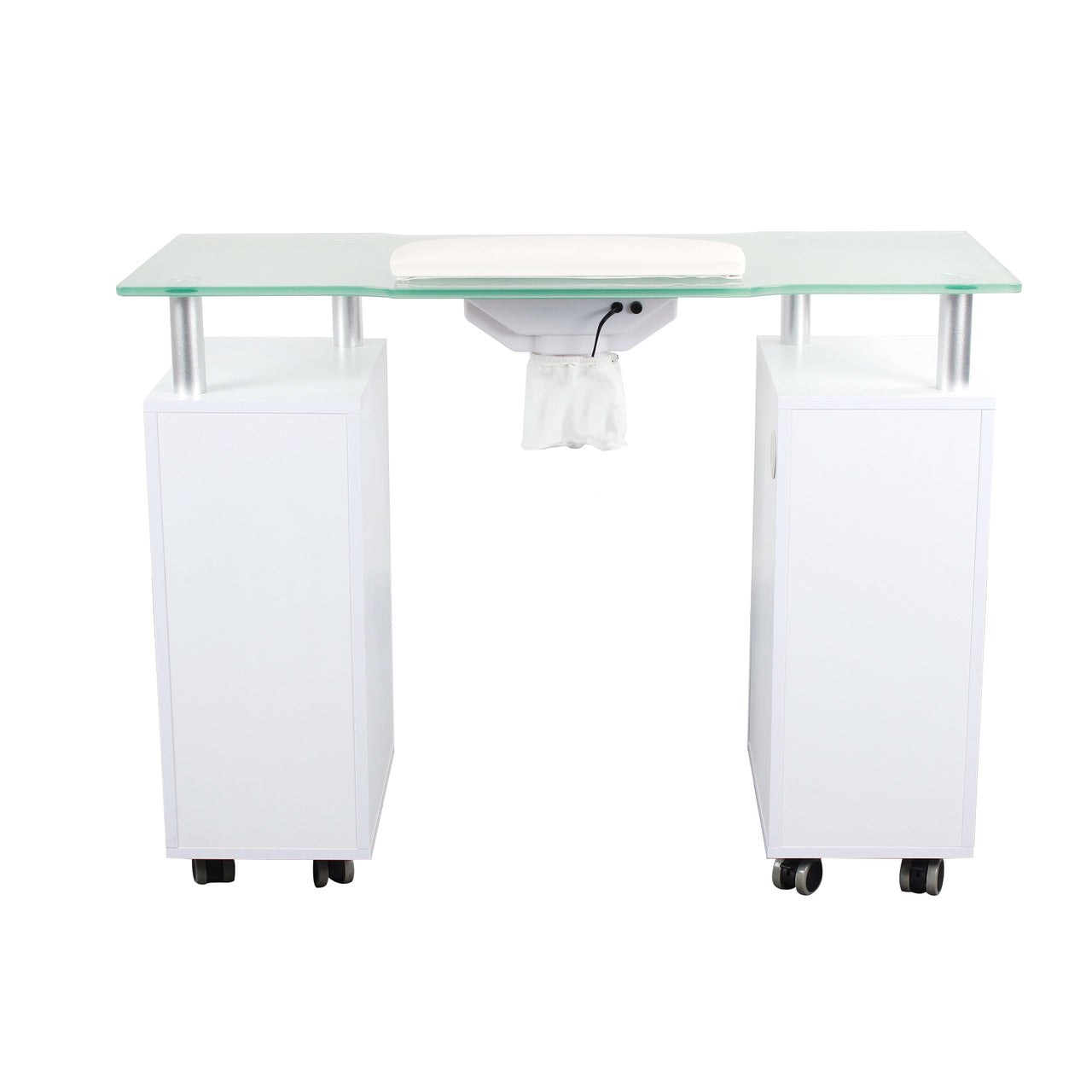 Manicure Table with Glass Top
