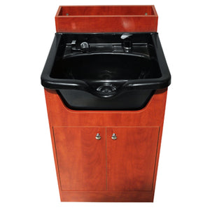 Shampoo Cabinet with Sink, Cherry