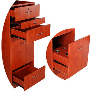 Asti 5 Piece Deluxe Station Set, Cherry