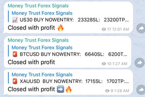 US30, XAUUSD Gold, & Bitcoin Only Live Trade Alerts 3 Month Plan - Money Trust Forex Signals