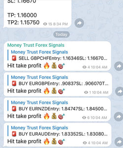 Live Forex Trade Alerts Weekly Telegram Membership Plan - Money Trust Forex Signals