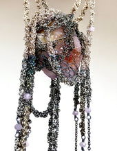 Load image into Gallery viewer, Silver ombré necklace with spirit quartz