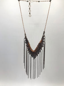 Copper fringe necklace
