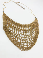 Load image into Gallery viewer, Brass lace necklace