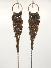 Load image into Gallery viewer, Brass drop earrings
