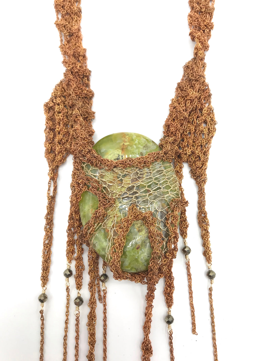 Avocado stone mega talisman necklace