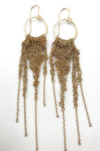Load image into Gallery viewer, Medium vintage brass chain earrings