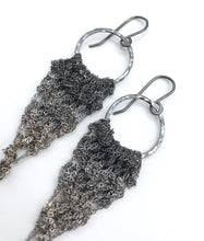 Load image into Gallery viewer, Medium silver ombré drop earrings