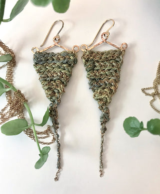 Guinevere earrings- Moss