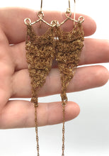 Load image into Gallery viewer, Small brass crochet earrings SALE