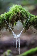 Load image into Gallery viewer, Small silver quartz necklace