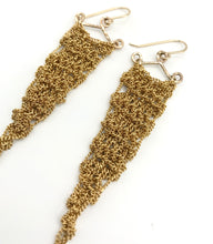 Load image into Gallery viewer, XS gold triangle earrings
