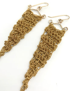 XS gold triangle earrings