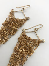Load image into Gallery viewer, Medium gold triangle earrings