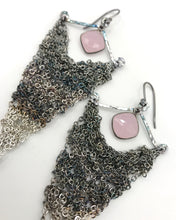 Load image into Gallery viewer, Large silver triangle earrings