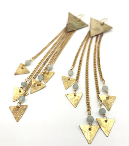 Stardust Medium earrings with Aquamarine