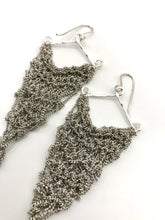 Load image into Gallery viewer, Medium steel triangle earrings