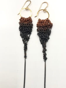 Copper ombré drop earrings