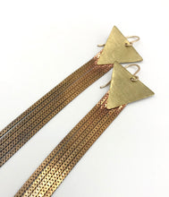 Load image into Gallery viewer, Brass stardust earrings