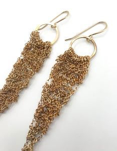 Small brass drop earrings