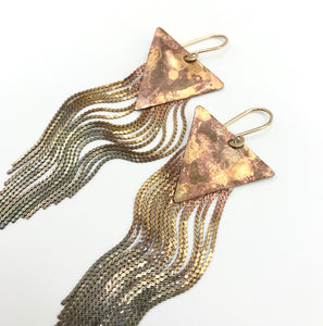Ombré stardust earrings