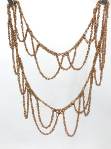 Brass loop necklace