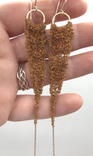 Load image into Gallery viewer, Small vintage brass drop earrings