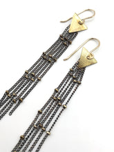 Load image into Gallery viewer, Stardust Small earrings oxidized