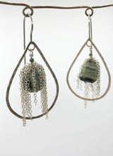 Load image into Gallery viewer, Large silver jasper teardrops