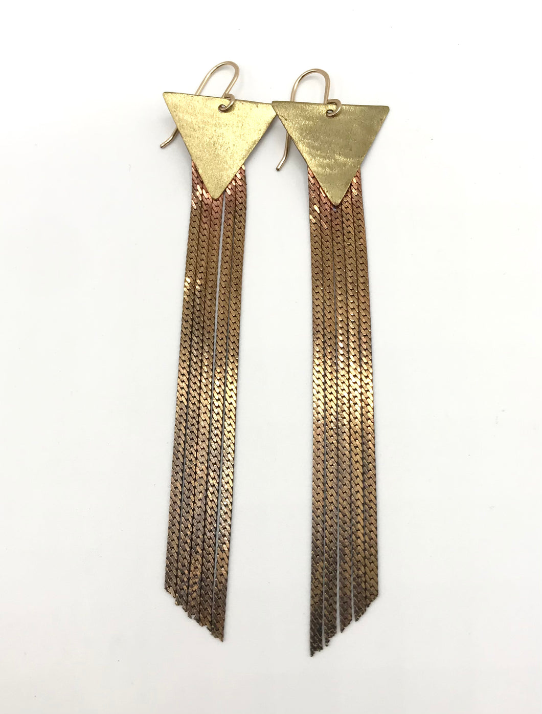 Brass stardust earrings