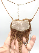 Load image into Gallery viewer, quartz cluster statement necklace