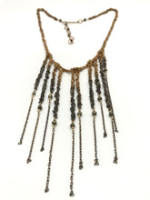 Load image into Gallery viewer, Brass fringe necklace