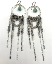 Load image into Gallery viewer, Large silver drape earrings
