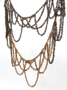 Ombre Brass loop necklace
