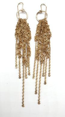 Small gold tassel earrings