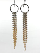 Load image into Gallery viewer, Brass ombre tassel earrings