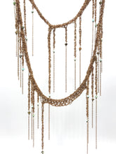 Load image into Gallery viewer, Brass infinite fringe necklace